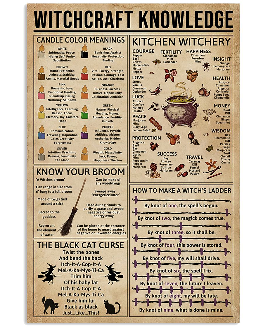 Witchcraft Witchery Knowledge 11x17 Poster