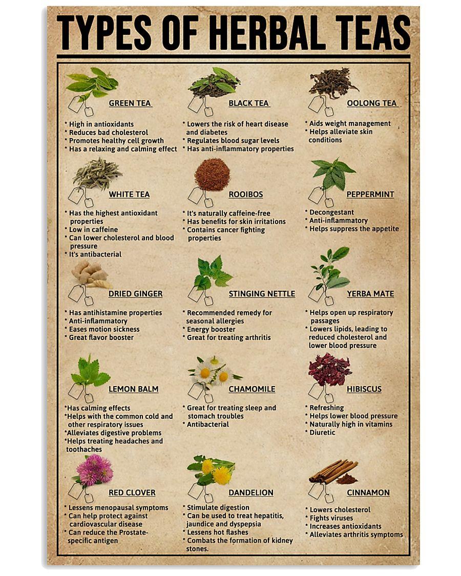 Types Of Herbal Teas