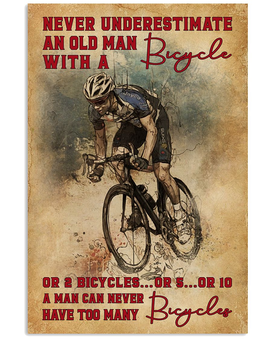 Never Underestimate An Old Man With A Bicycle 16x24 Poster