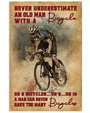 Never Underestimate An Old Man With A Bicycle 16x24 Poster front