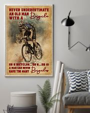 Never Underestimate An Old Man With A Bicycle 16x24 Poster lifestyle-poster-1