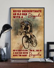 Never Underestimate An Old Man With A Bicycle 16x24 Poster lifestyle-poster-2