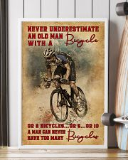 Never Underestimate An Old Man With A Bicycle 16x24 Poster lifestyle-poster-4