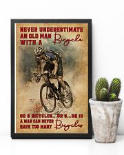 Never Underestimate An Old Man With A Bicycle 16x24 Poster lifestyle-poster-8