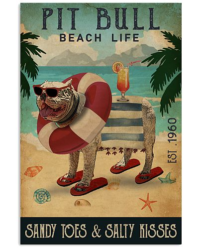 Vintage Beach Cocktail Life Pit Bull