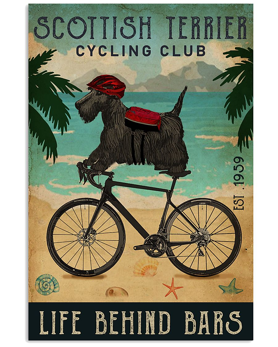 Cycling Club Scottish Terrier 11x17 Poster