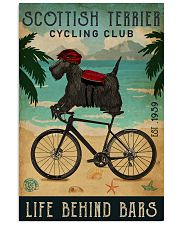 Cycling Club Scottish Terrier 11x17 Poster front