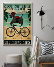 Cycling Club Scottish Terrier 11x17 Poster lifestyle-poster-1