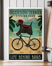 Cycling Club Scottish Terrier 11x17 Poster lifestyle-poster-4
