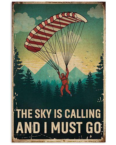 Retro Sky Is Calling Parachuting