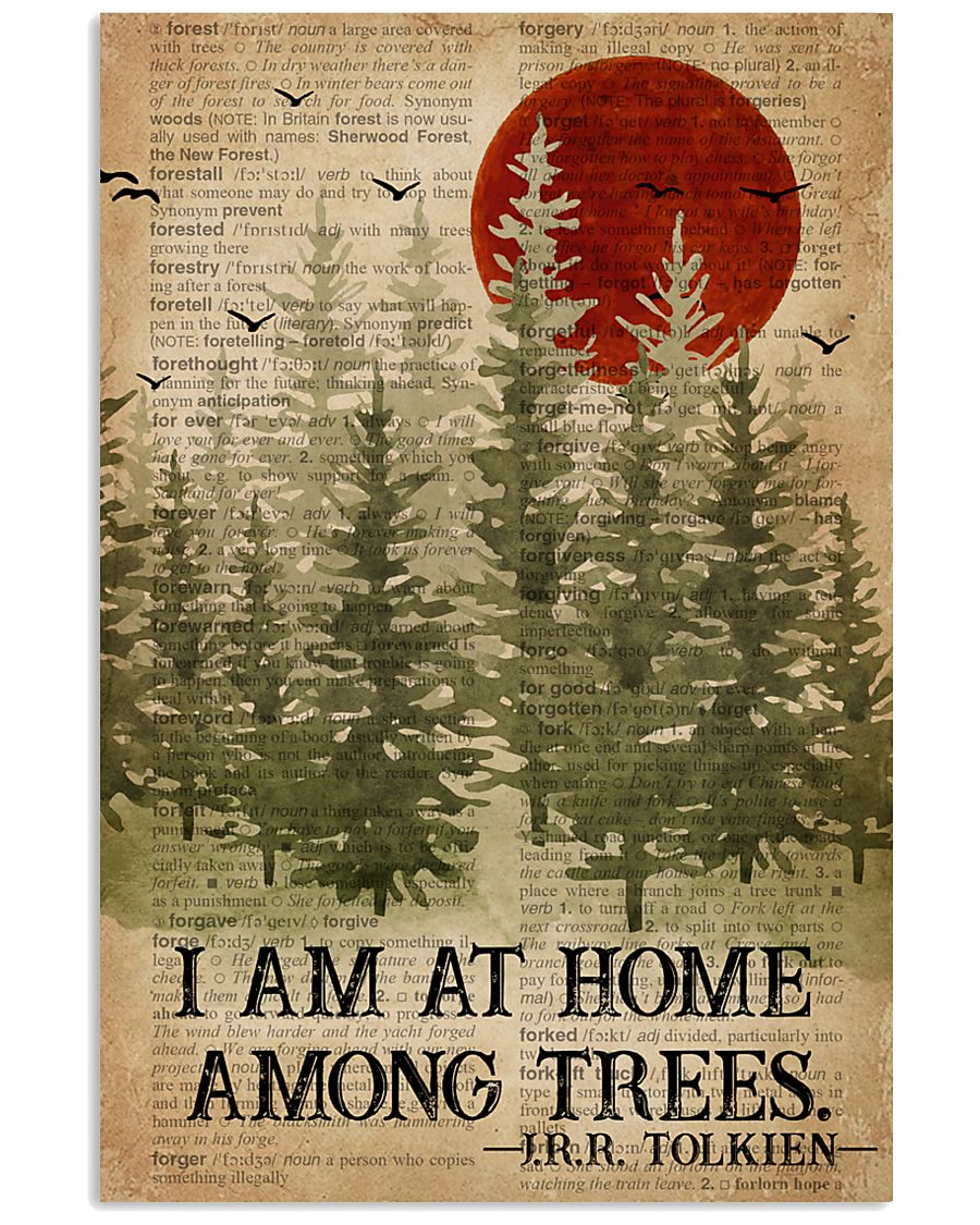 I Am At Home Among Trees Camping 16x24 Poster