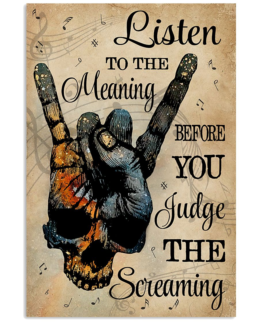 Music Skull Hand Listen To The Meaning 11x17 Poster