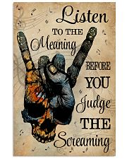 Music Skull Hand Listen To The Meaning 11x17 Poster front