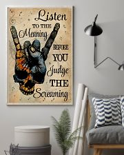 Music Skull Hand Listen To The Meaning 11x17 Poster lifestyle-poster-1