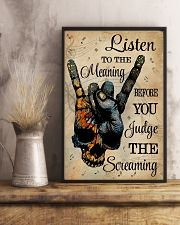 Music Skull Hand Listen To The Meaning 11x17 Poster lifestyle-poster-3