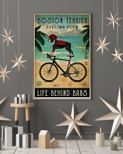 Cycling Club Boston Terrier 11x17 Poster lifestyle-holiday-poster-1