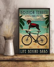 Cycling Club Boston Terrier 11x17 Poster lifestyle-poster-3