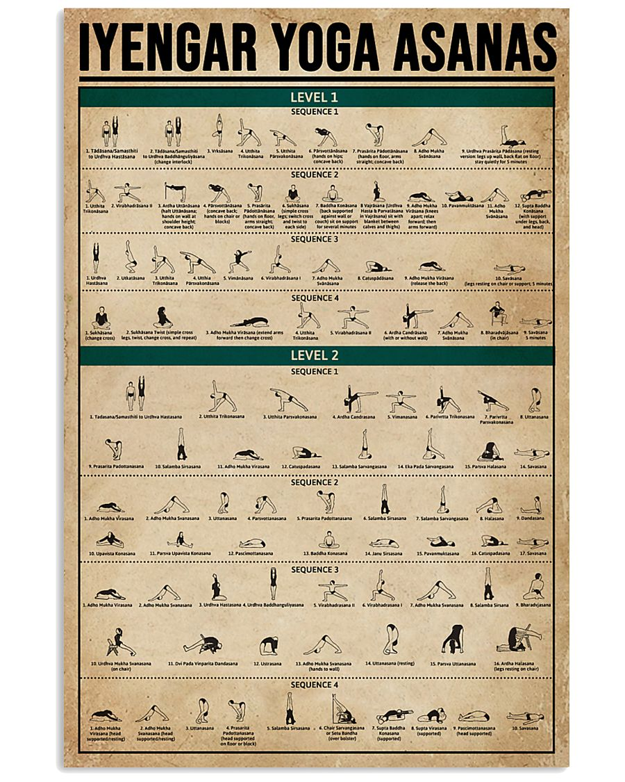 Iyengar Yoga Asanas 16x24 Poster