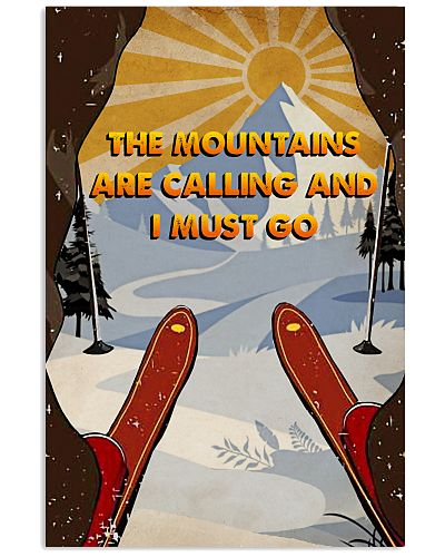 Vintage The Mountain Are Calling Skiing