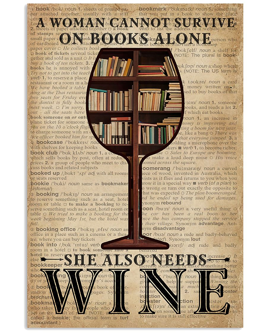 Survive On Books And Wine 11x17 Poster