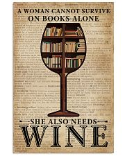 Survive On Books And Wine 11x17 Poster front
