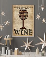 Survive On Books And Wine 11x17 Poster lifestyle-holiday-poster-1