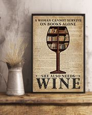 Survive On Books And Wine 11x17 Poster lifestyle-poster-3