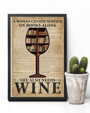 Survive On Books And Wine 11x17 Poster lifestyle-poster-8