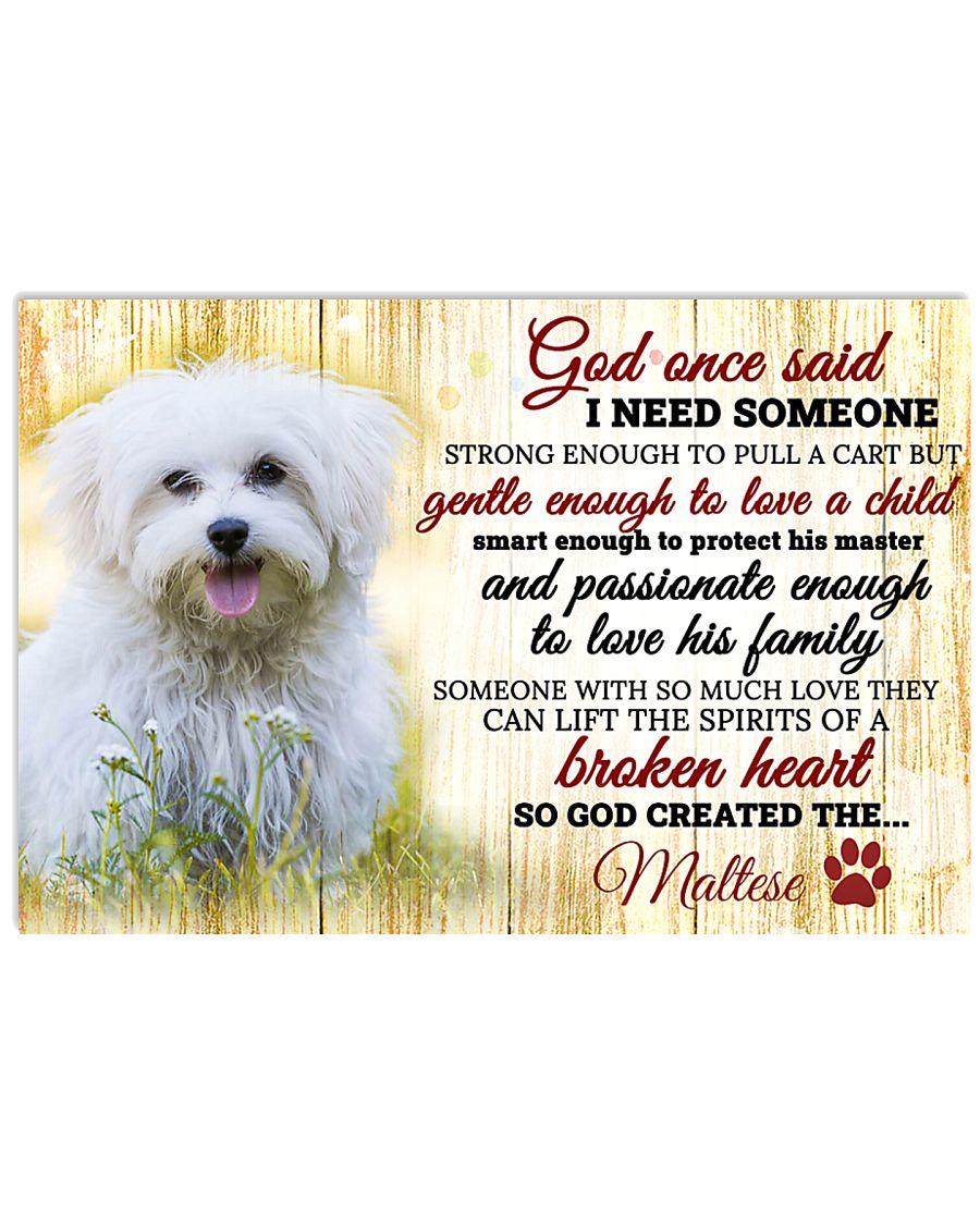 God Once Said Maltese 17x11 Poster
