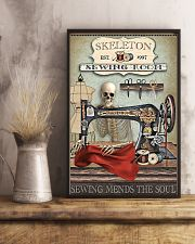 Sewing Room Skeleton 16x24 Poster lifestyle-poster-3