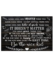 Teacher Be A Nice Kid Board 17x11 Poster front