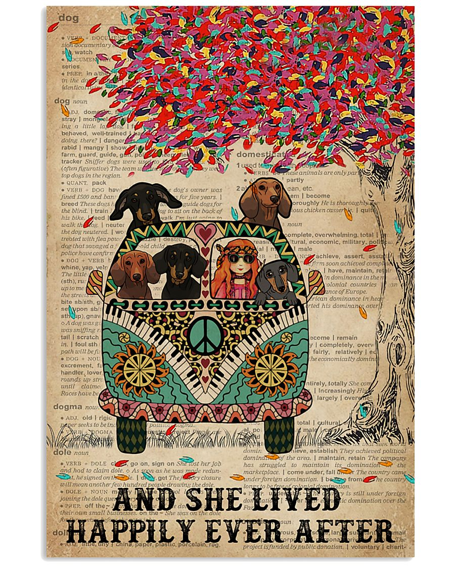 Dictionary And She Lived Happily Dachshund 11x17 Poster