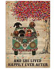 Dictionary And She Lived Happily Dachshund 11x17 Poster front