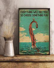 Vintage Choose Something Fun Fishing 16x24 Poster lifestyle-poster-3
