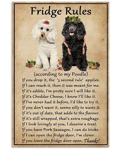 Fridge Rules Poodle