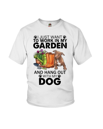 Work In My Garden Pit Bull