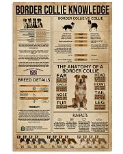Border Collie Knowledge Dog 11x17 Poster front