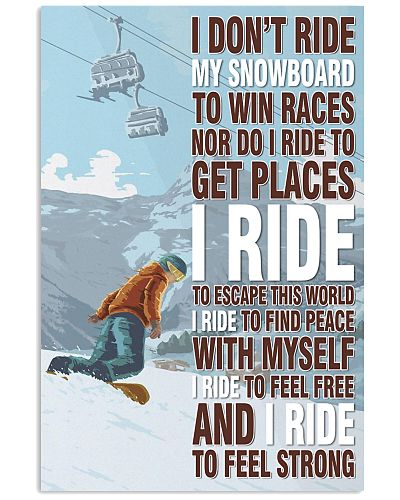 I Don't Ride My Snowboard Skiing