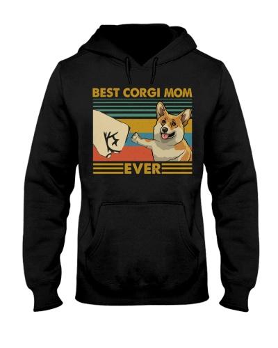 Retro Blue Best Corgi Mom Ever
