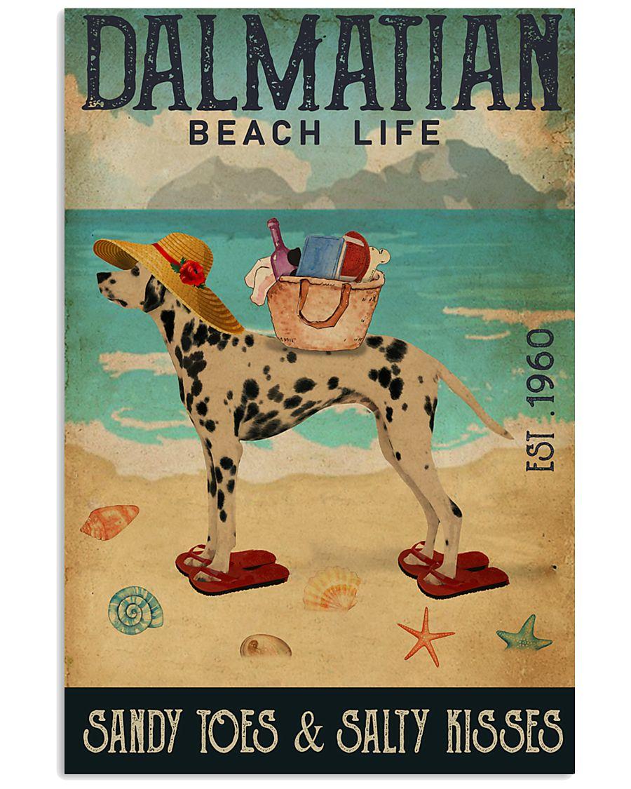 Beach Life Sandy Toes Dalmatian 11x17 Poster