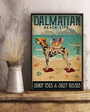 Beach Life Sandy Toes Dalmatian 11x17 Poster lifestyle-poster-3