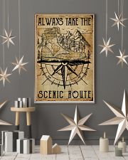 Vintage Always Take The Scenic Route Hiking Boots 11x17 Poster lifestyle-holiday-poster-1