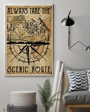 Vintage Always Take The Scenic Route Hiking Boots 11x17 Poster lifestyle-poster-1
