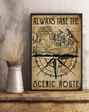 Vintage Always Take The Scenic Route Hiking Boots 11x17 Poster lifestyle-poster-3