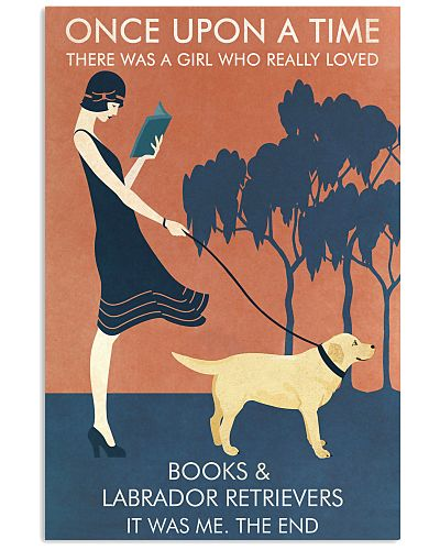 Vintage Girl Once Upon Reading Labrador Retriever