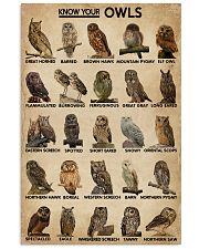 Know Your Owls 16x24 Poster front