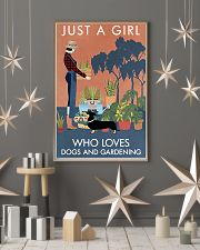 Vintage Just A Girl Loves Gardening And Dachshund 11x17 Poster lifestyle-holiday-poster-1