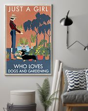 Vintage Just A Girl Loves Gardening And Dachshund 11x17 Poster lifestyle-poster-1