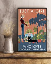 Vintage Just A Girl Loves Gardening And Dachshund 11x17 Poster lifestyle-poster-3