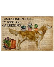 Dictionary Distracted Golden Retriever Gardening 17x11 Poster front